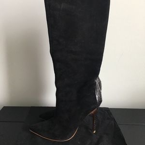 Sigerson Morrison Tall Black Suede Boots